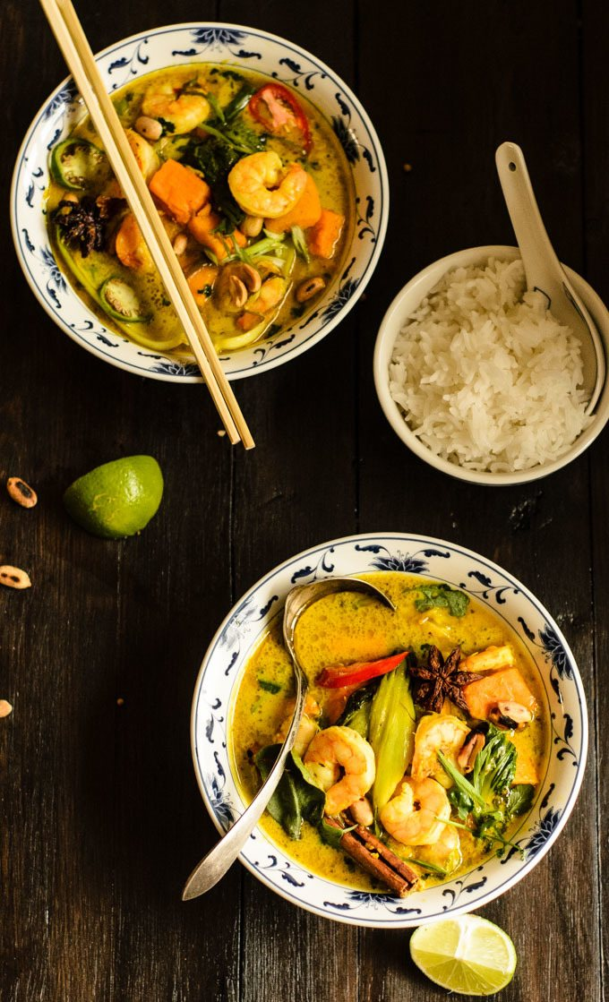 prawn and sweet potato massaman curry