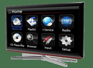 CocktailAudio X45 Ausgabe auf TV