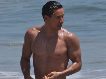 TBT: That Time Mario Lopez Went for a Dip in White Swimwear