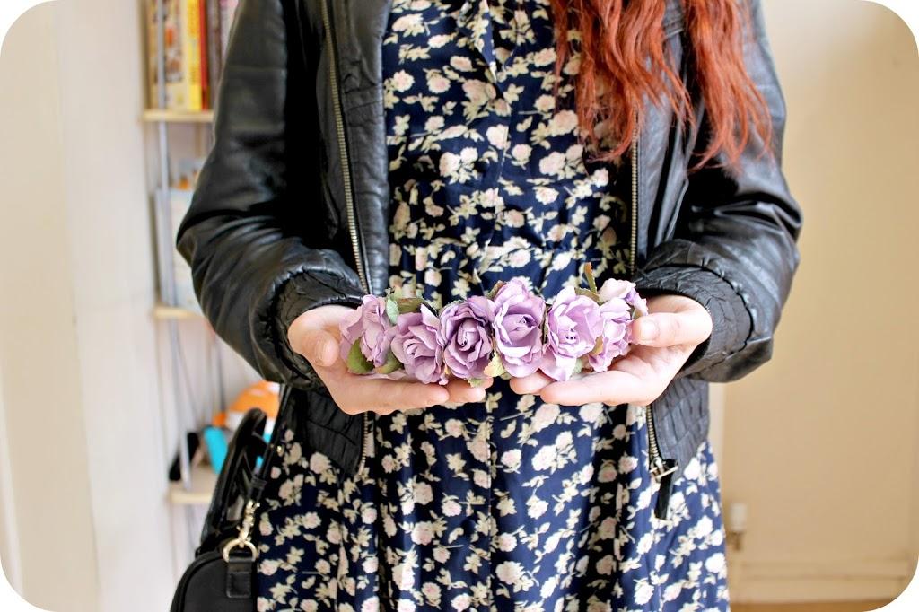 a93219ef Handmade Purple Rose Hairband, Traded for on Vinted. Real Leather Miss  Selfridge Jacket ...