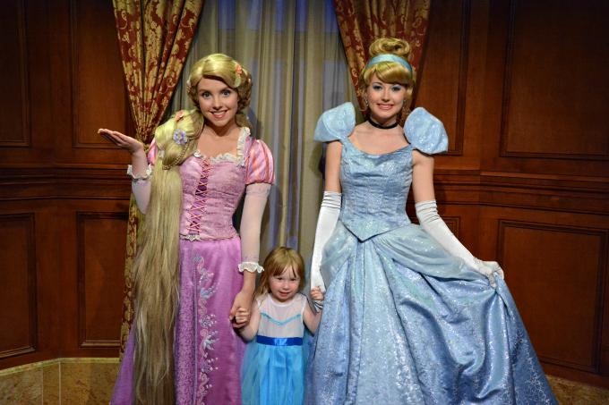 Cocktails in Teacups Walt Disney World Holiday April 2015 Magic Kingdom Cinderella and Rapunzel