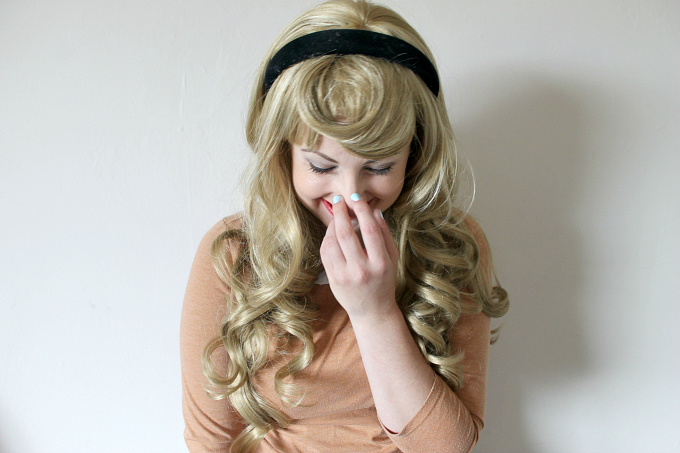 Cocktails in Teacups Annabelle Wigs Review Briar Rose Disney Cosplay Laughing