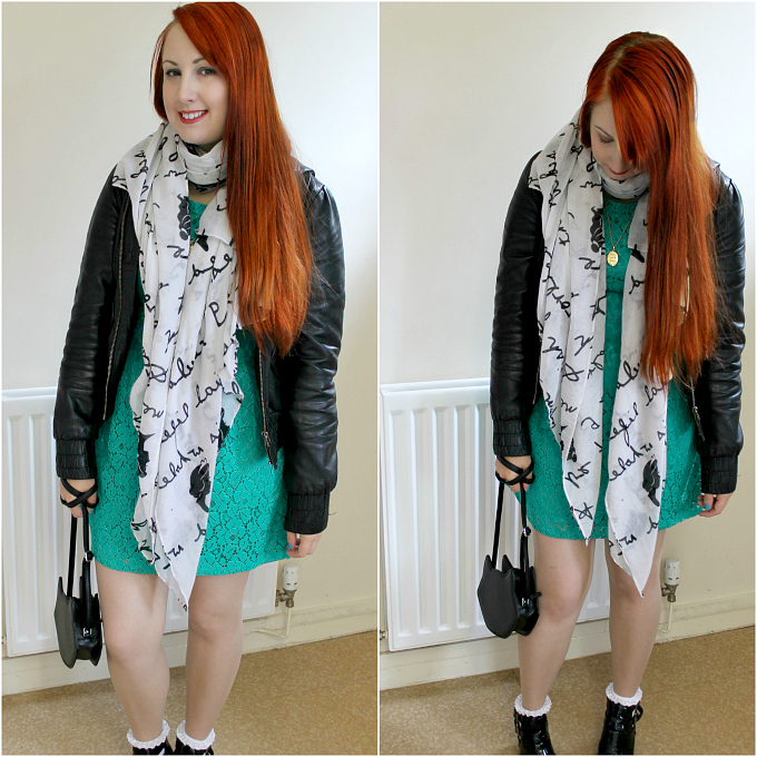 Cocktails in Teacups Fashion Blog Apricot Summer Dress Review Miss Selfridge Leather Jacket Hot Topic Scarf