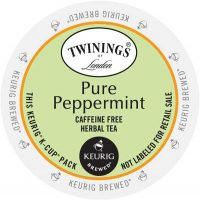 Twinings Pure Peppermint Tea K-Cup Lid