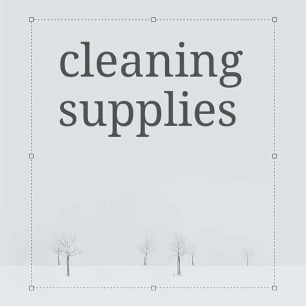 Notegraphy-styled cleaning supplies category image