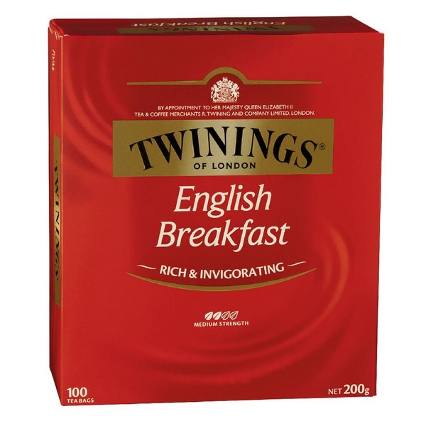 English Breakfast Tea from Twinings (100 pack)