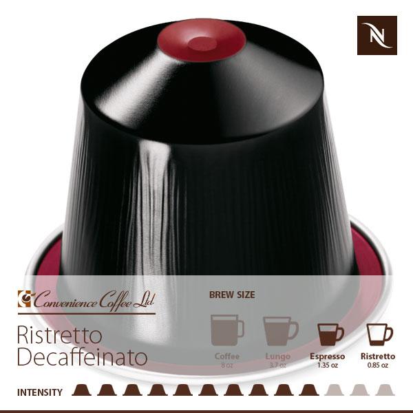 RISTRETTO DECAFFEINATO Capsules From Nespresso