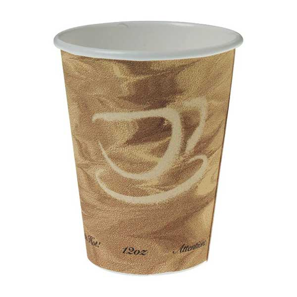 Cups, Paper, Hot, Mistique Design: 12 Ounce (case Of 1000)