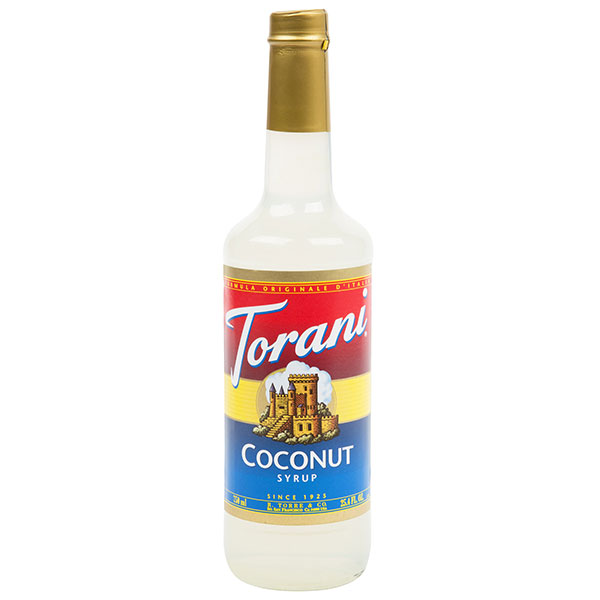 Coconut Syrup From Torani (25.4 Oz 750 Ml)