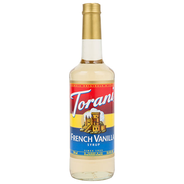 French Vanilla Syrup From Torani (25.4 Oz 750 Ml)