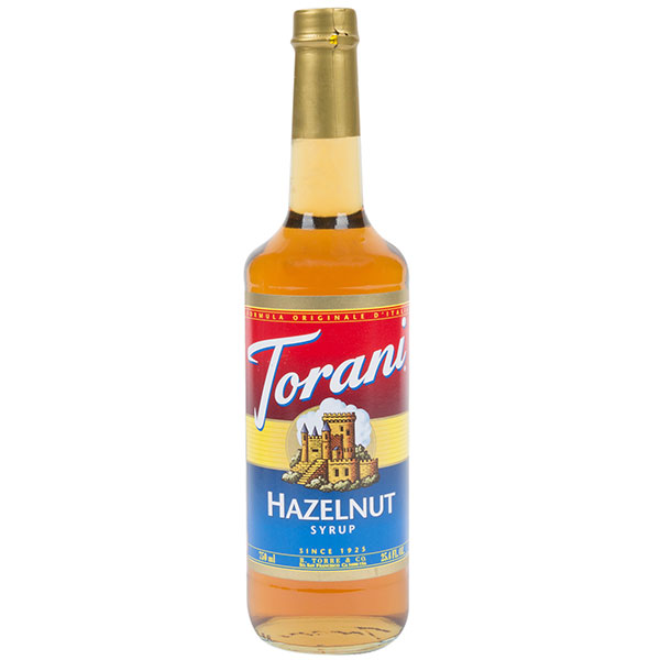 Hazelnut Syrup From Torani (25.4 Oz 750 Ml)