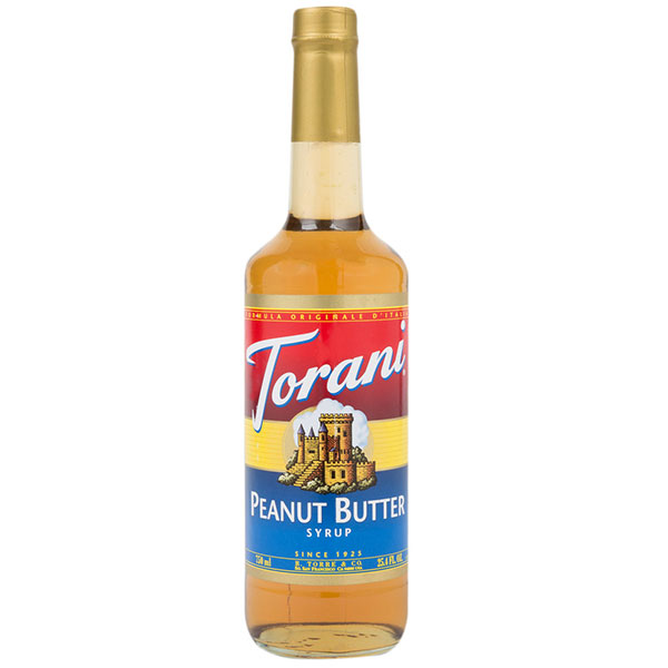 Peanut Butter Syrup From Torani (25.4 Oz 750 Ml)
