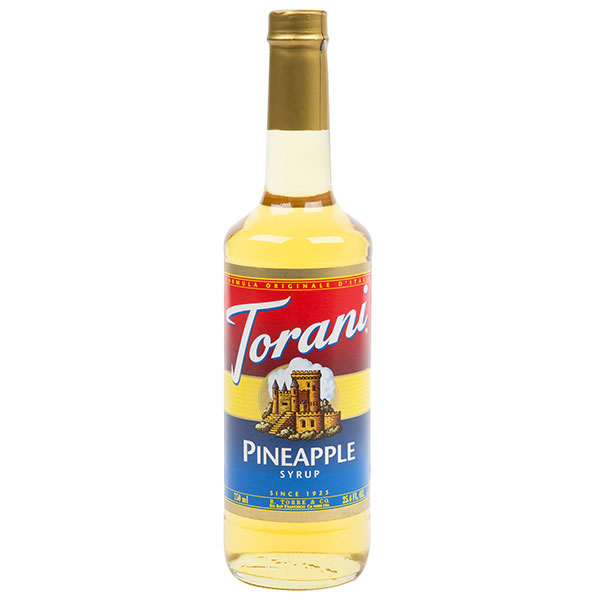 Pineapple Syrup From Torani (25.4 Oz 750 Ml)