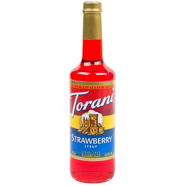 Strawberry Syrup From Torani (25.4 Oz 750 Ml)
