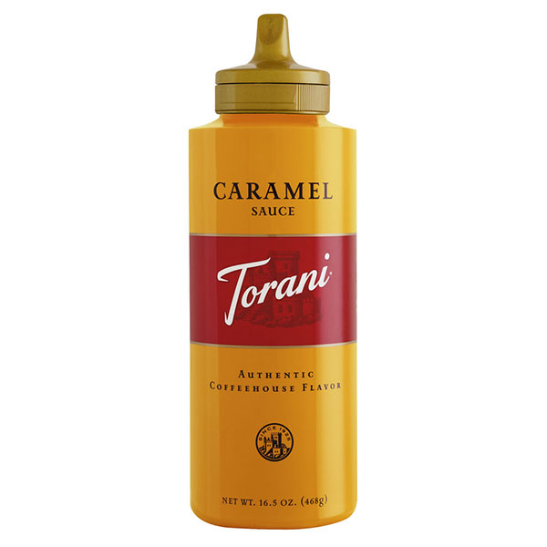 Caramel Sauce From Torani (16.5 Oz Squeeze Bottle)