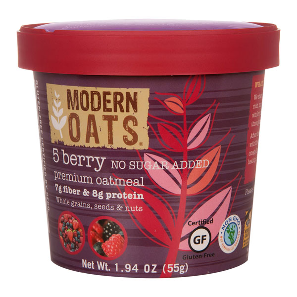5 Berry Instant Oats (no Sugar Added) From Modern Oats