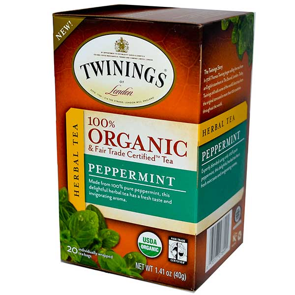 Peppermint Organic Tea Bags From Twinings