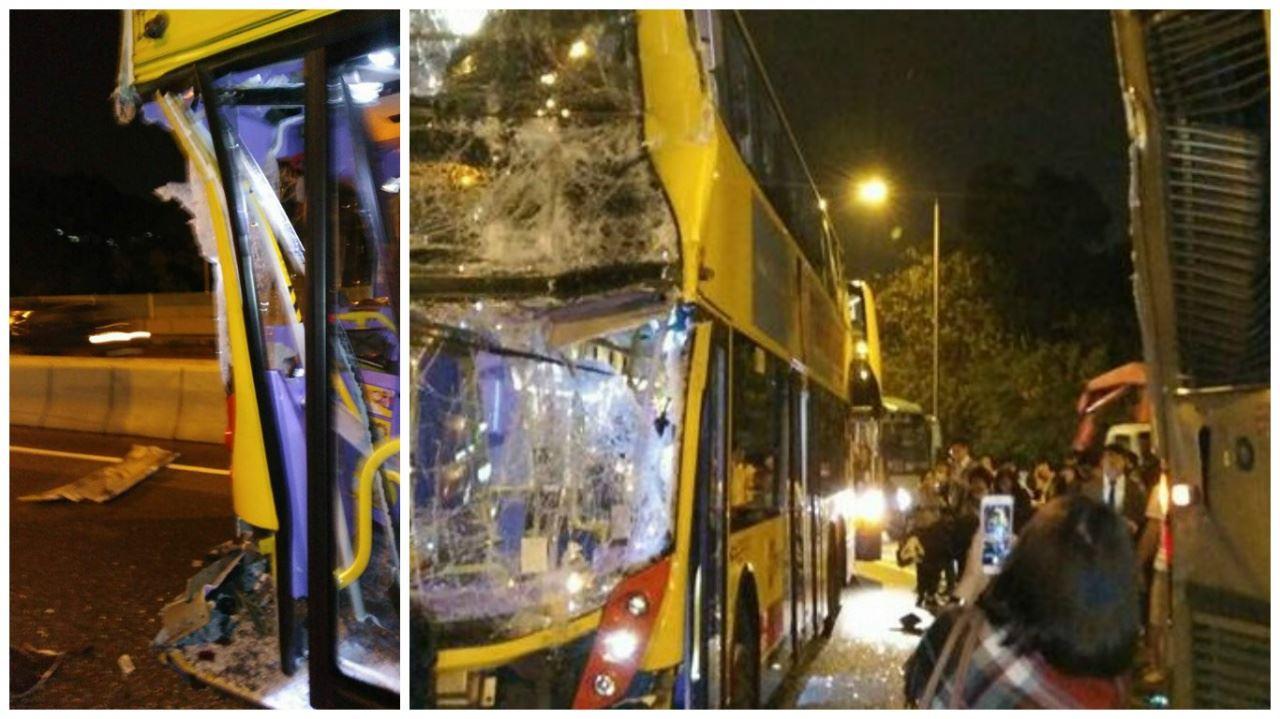 【元朗公路車禍】三巴士小巴相撞最少54傷 逾20救護車出動 - JUSTYOU