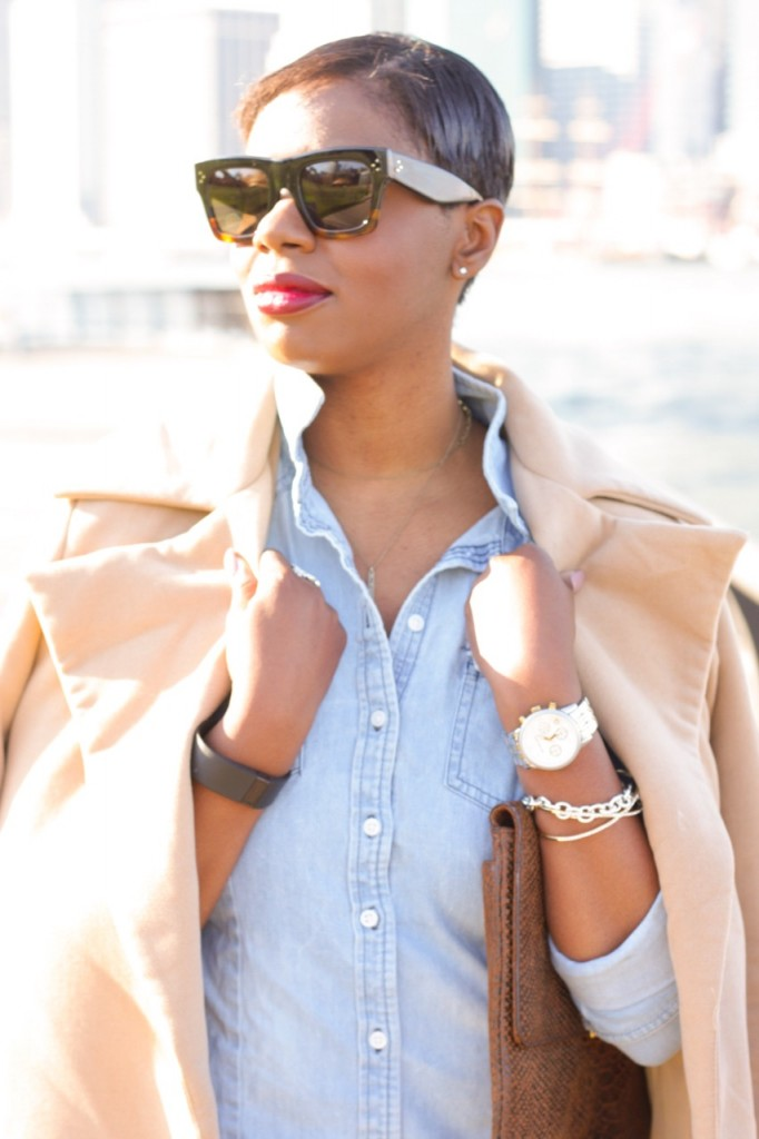 Denim Shirt Camel Coat