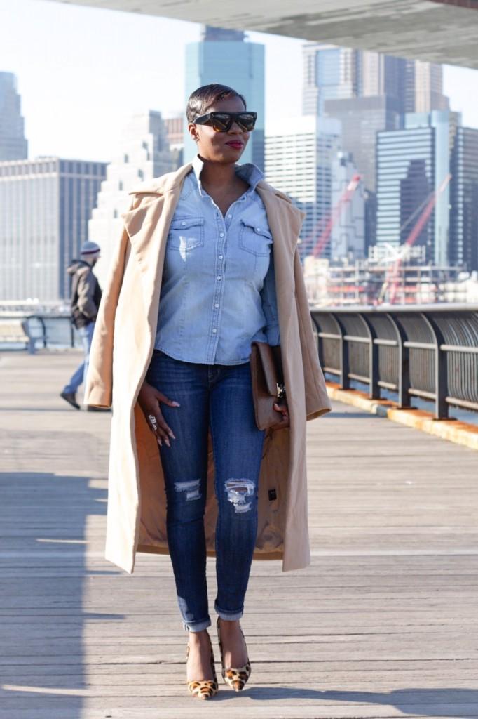 Denim Leopard Pumps Ripped Jeans Blogger Style