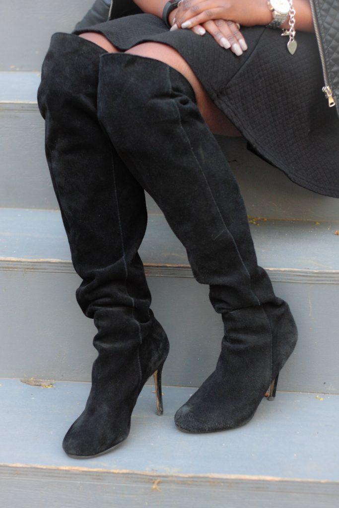 black OTK boots detail spring 2016 style
