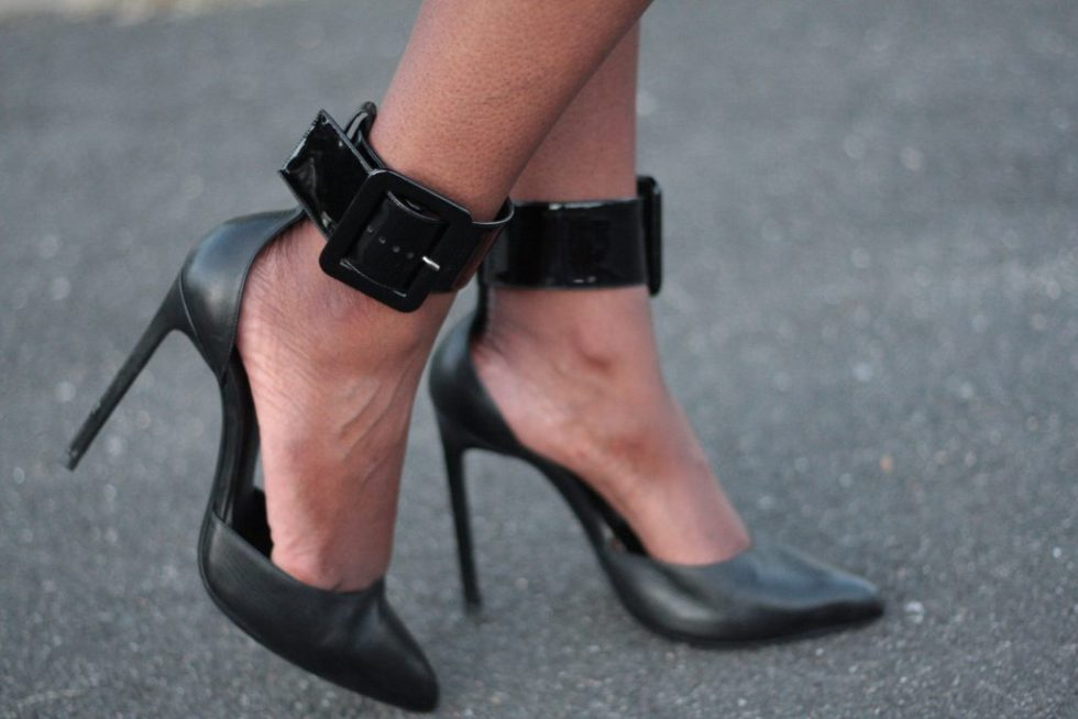 the glam room NYC fashion ankle cuff pumps
