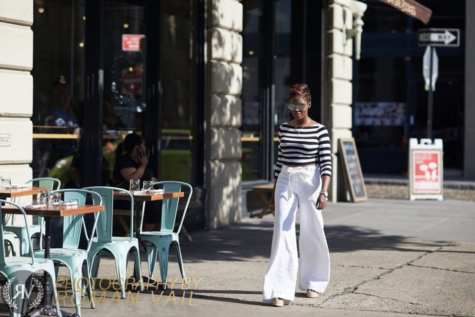 breton stripes crop top white flare jeans chloe wedges summer blogger style 2016