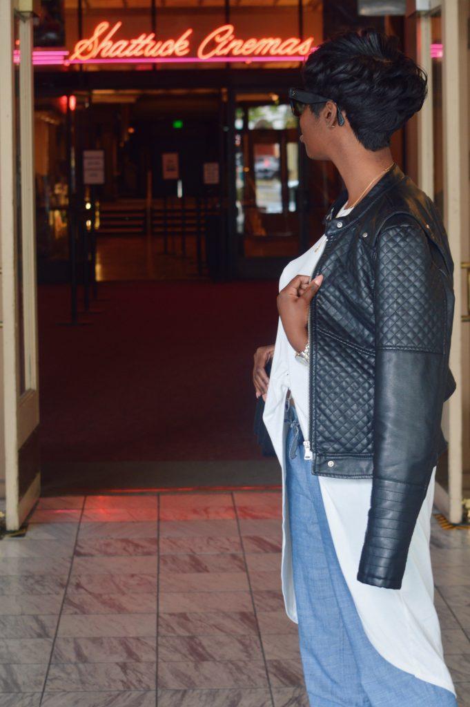 celine sunglasses ASTR nordstrom high low tie top marshalls faux leather jacket jcrew chambray joggers kurt geiger leopard pumps gucci dionysus black suede medium shoulder bag san francisco sf bay are style fashion blogger