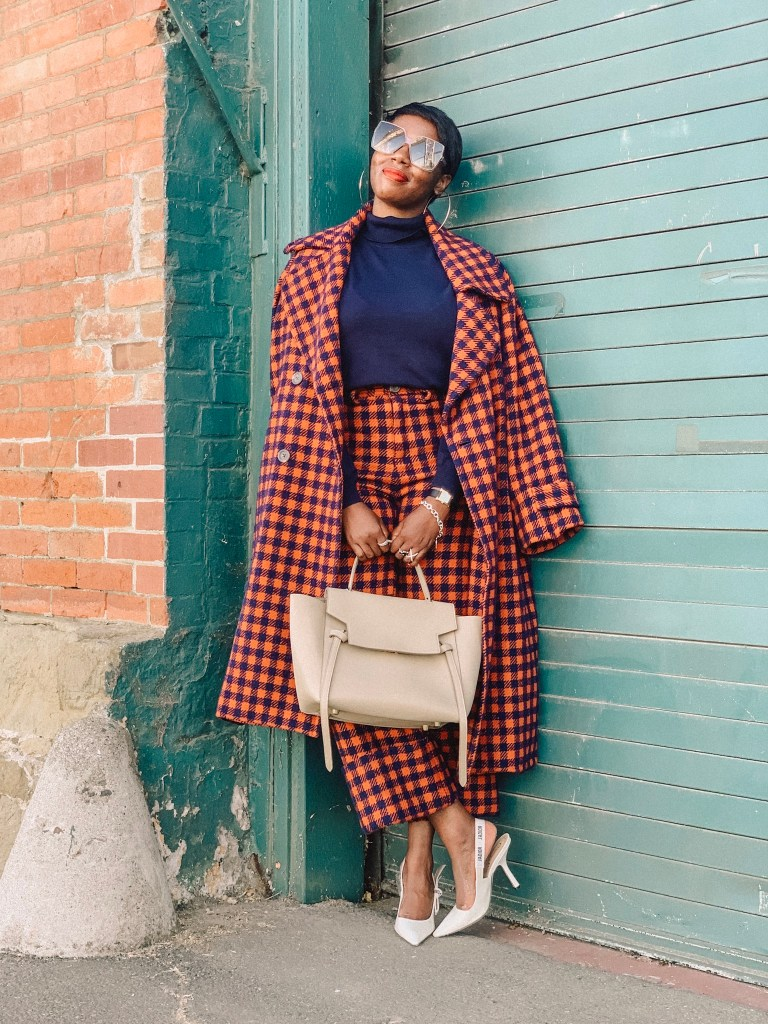 San Francisco style blogger Amber Richele of The Cocoa Butter Diaries shares her interpretation of the fall suit to celebrate the first official day of fall