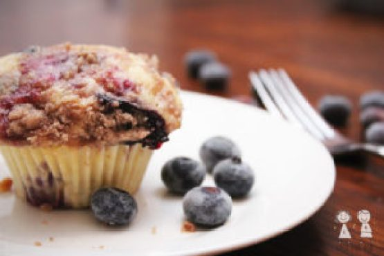 Blueberry Muffins with Cinnamon Toppig