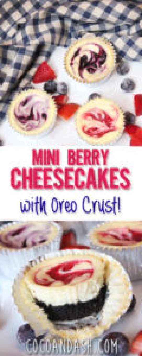 Berry Cheesecake with Oreo Crust