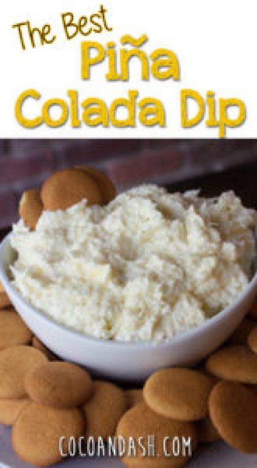 Pina Colada Dip, pineapple dip, pineapple cream cheese dip, pineapple coconut dip, coconut dip, Hawaiian dip, coco and ash