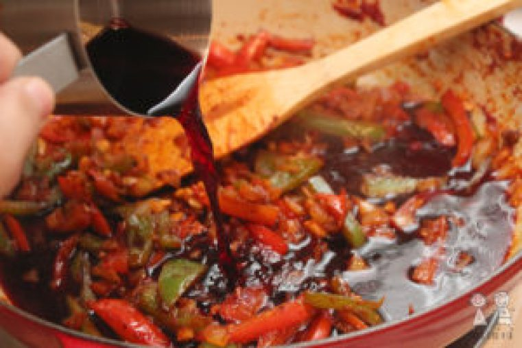 pork and peppers in 30 minutes