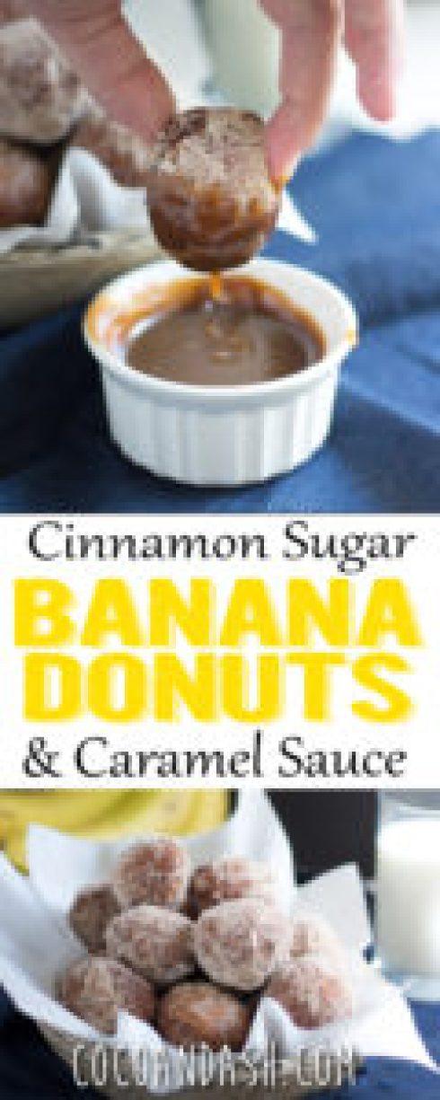 Cinnamon Sugar Banana Donuts dessert breakfast easy