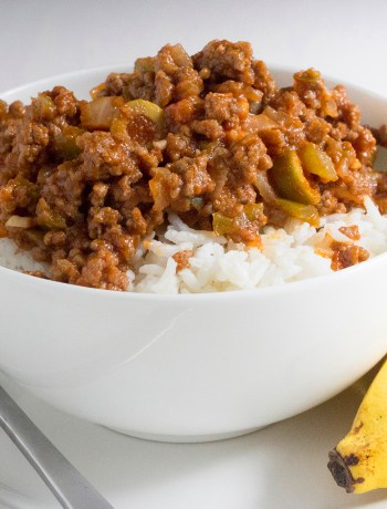 Cuban picadillo dinner recipe ground beef hash spanish