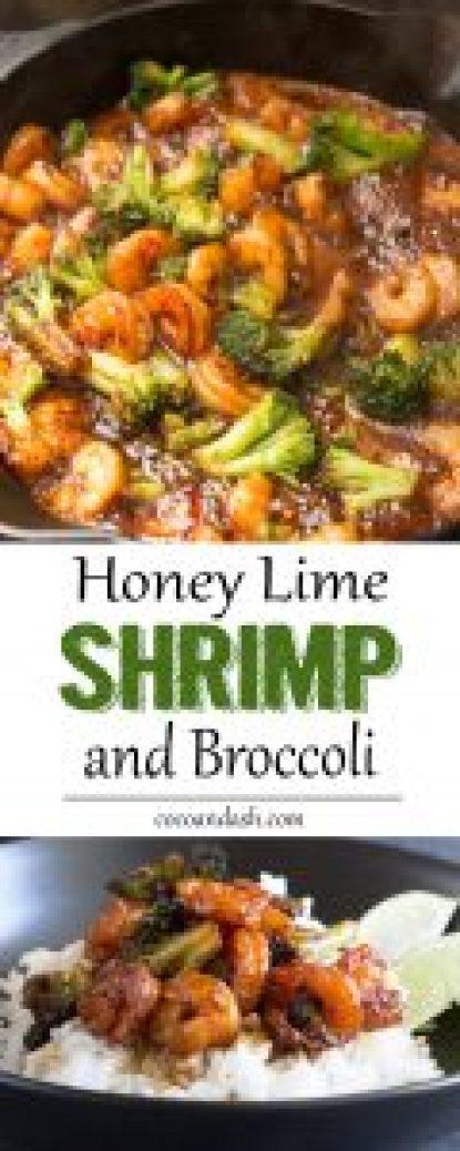 Honey Lime Shrimp and Broccoli, shrimp, dinner, broccoli, easy, recipe, garlic, soy