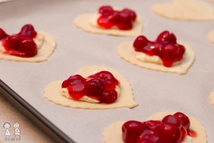 Cherry Cream Cheese Hand Pies Valentines Day dessert