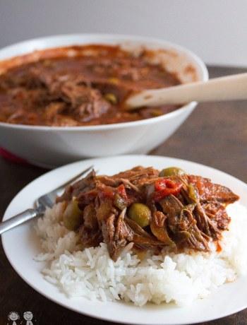 Ropa Vieja, shredded beef, cuban, recipe, slow cooker, crockpot, easy, roast, beef,