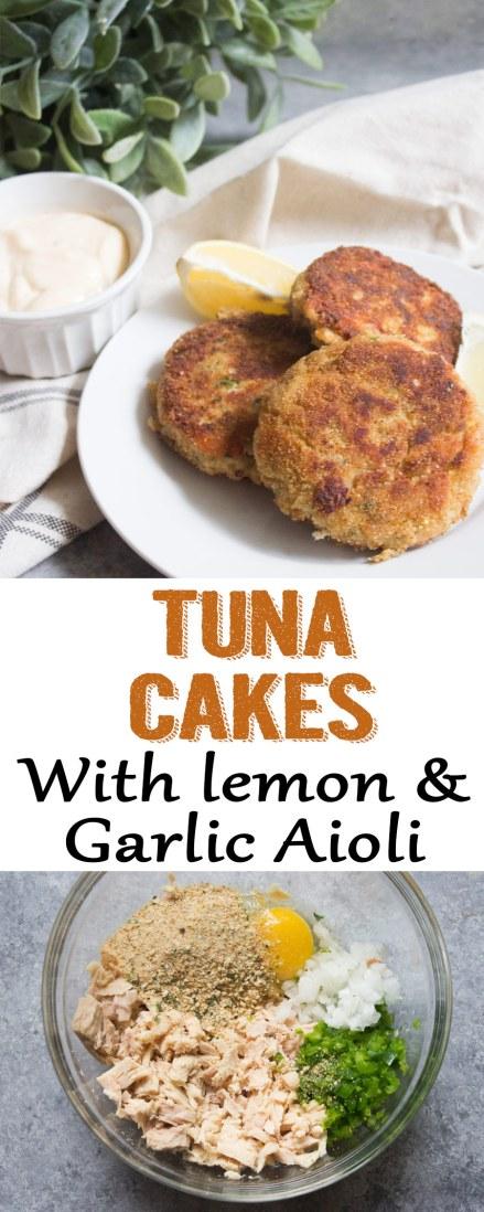 tuna cakes, lemon garlic aioli, tuna patties, tuna cakes recipe, tuna cake recipe, tuna, tuna recipe, aioli recipe