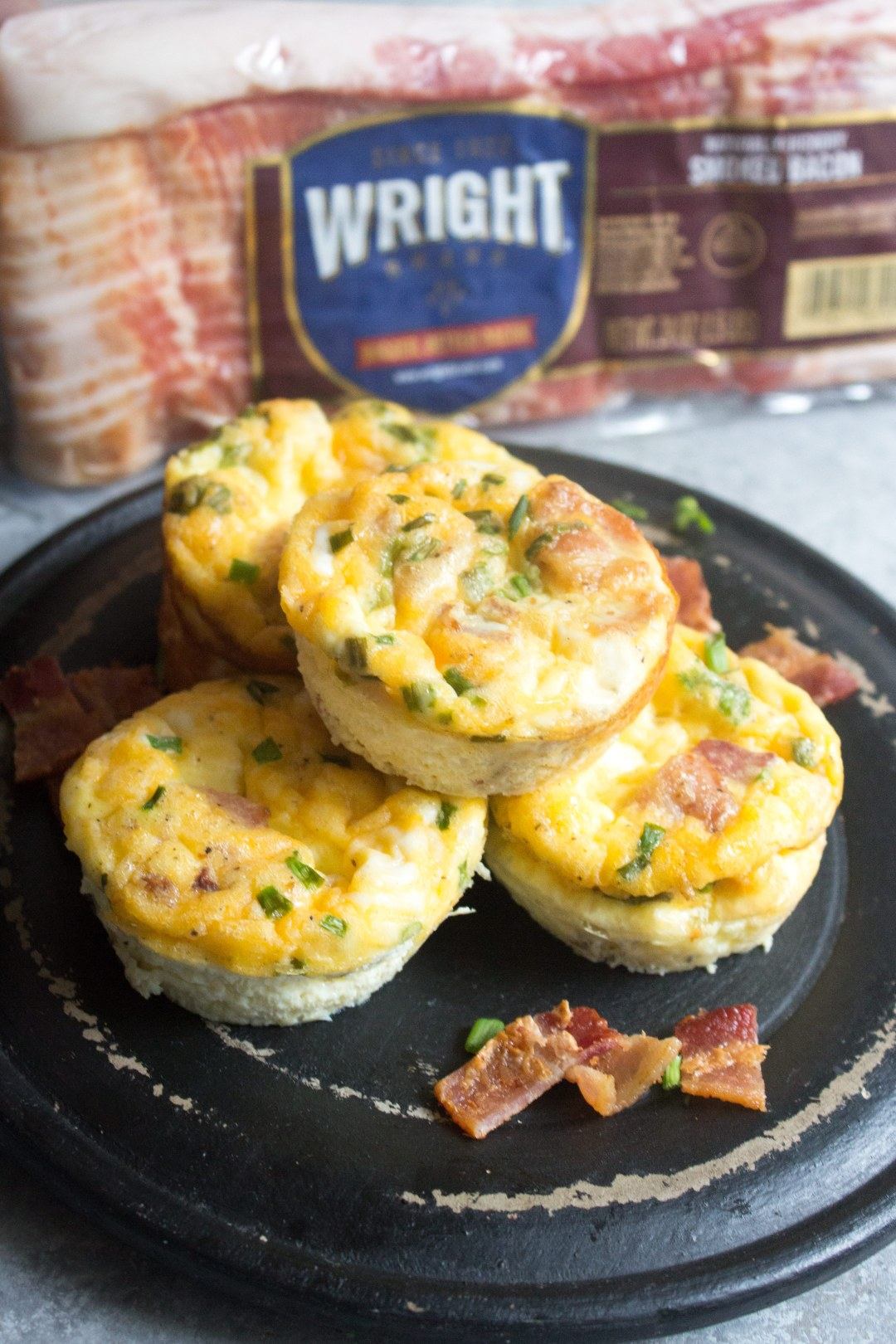 Mini Egg Cups With Bacon Cheddar And Chives