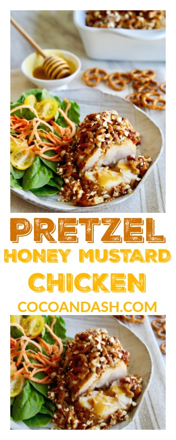 Easy baked Pretzel Honey Mustard Chicken