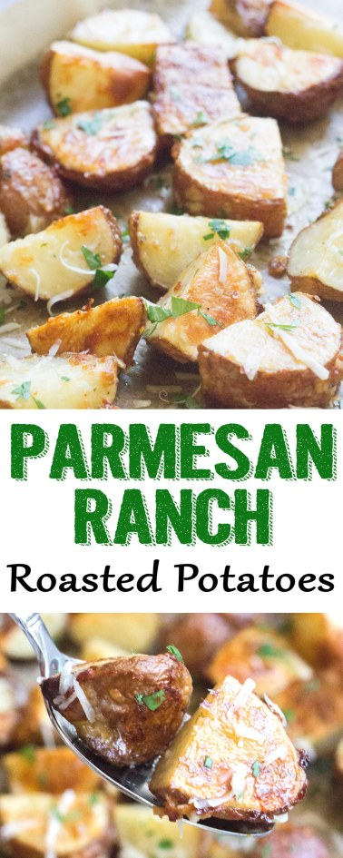 parmesan ranch roasted potatoes, parmesan roasted potatoes, ranch roasted potatoes, roasted potatoes, coco and ash, potato side dish, easy side dish, easy ranch potatoes