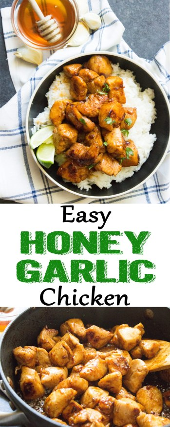 Honey garlic chicken, honey chicken, garlic chicken, easy chicken recipe, chicken dinner, coco and ash, honey lime chicken