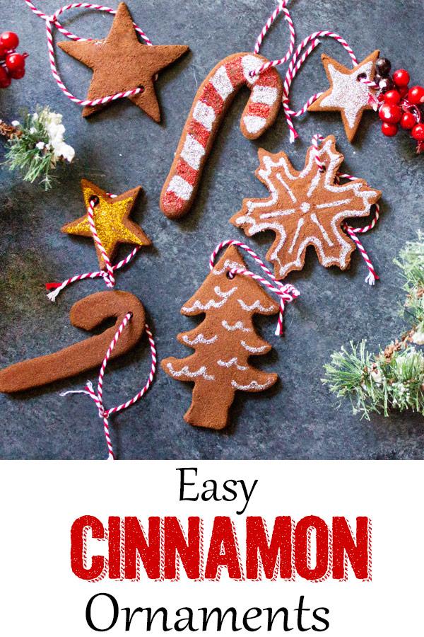Easy cinnamon ornaments, cinnamon ornaments, cinnamon ornaments with no glue, coco and ash