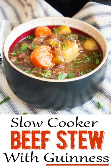 Slow cooker beef stew with Guinness, beef stew, slow cooker, coco and ash, beef stew with beer, slow cooker beef stew