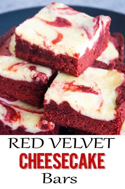 Red Velvet Cheesecake Bars, red velvet bars, dessert, valentines day, coco and ash