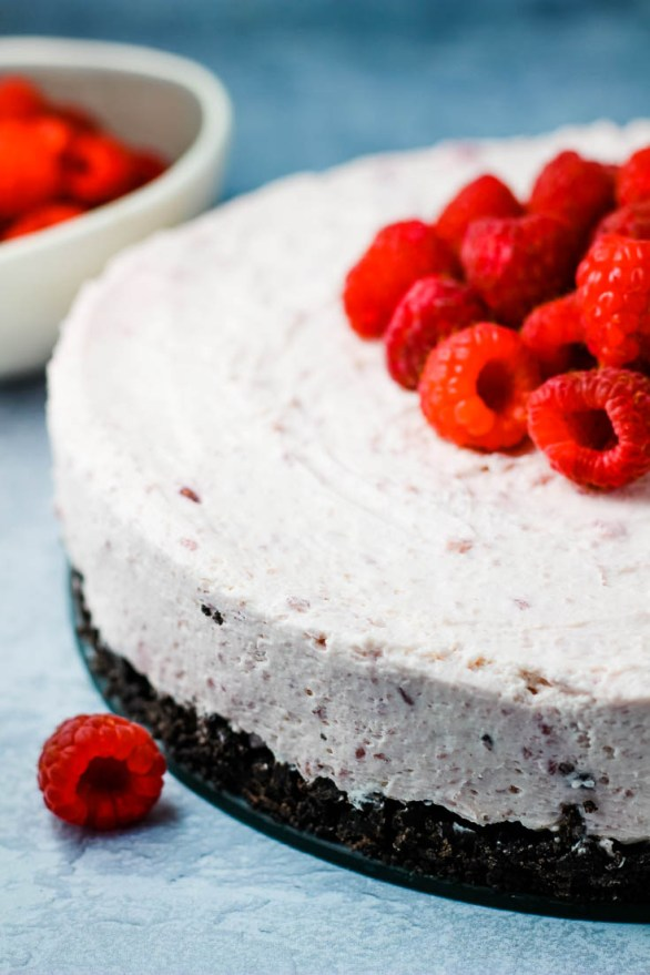 no bake raspberry cheesecake, easy cheesecake, dessert, no bake cheesecake, raspberry cheesecake, coco and ash