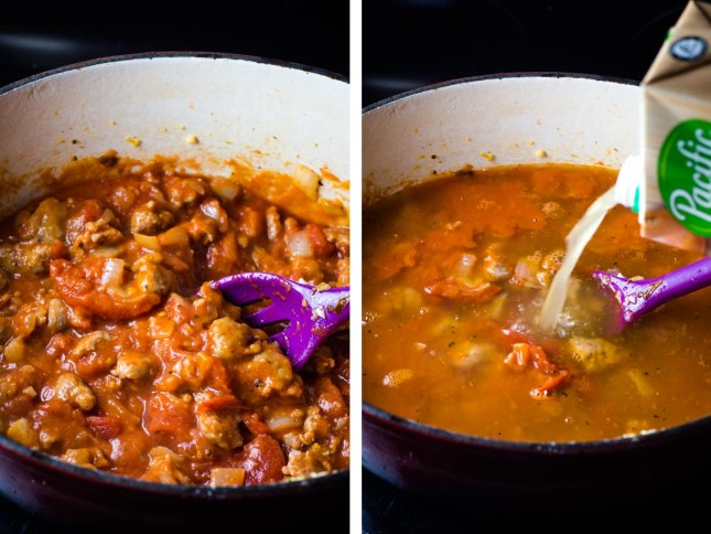 Sausage and Tortellini Soup, sausage soup, tortellini soup, easy soup, dinner, coco and ash