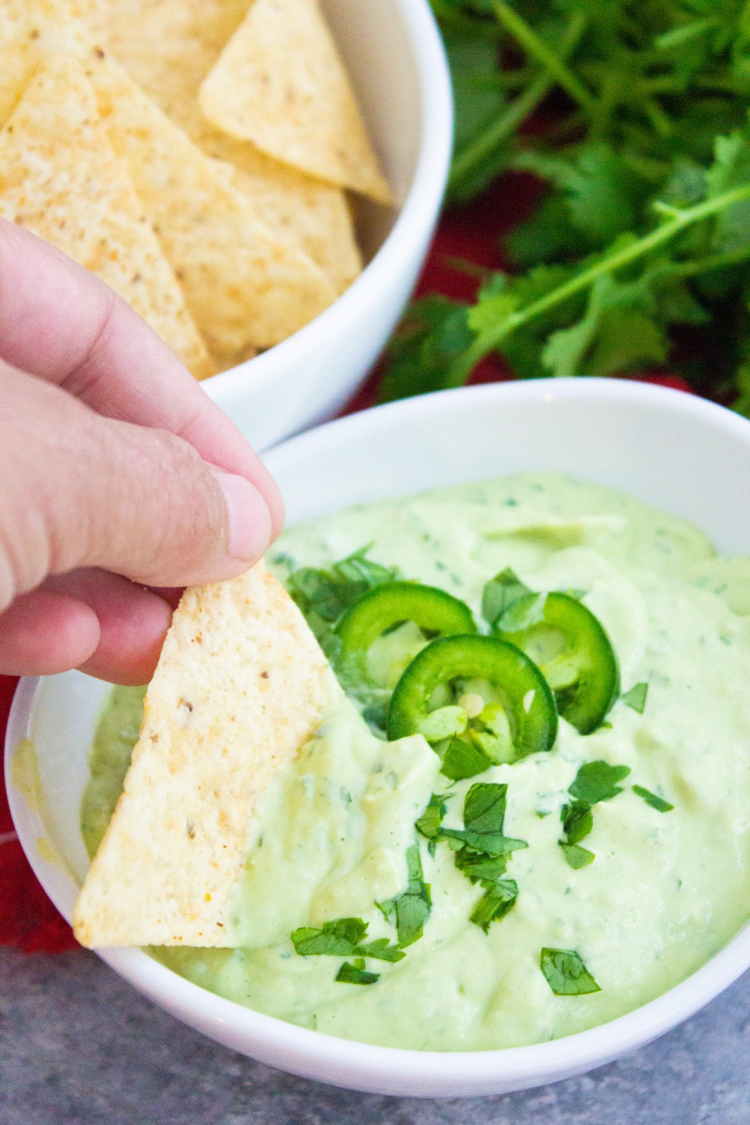 creamy avocado sauce, avocado salsa, dip, chip dipping, coco and ash, appetizer