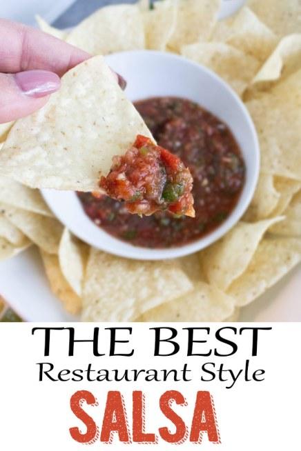 Restaurant style salsa, easy salsa